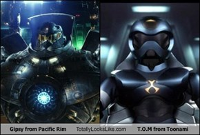 Gipsy from Pacific Rim Totally Looks Like T.O.M from Toonami