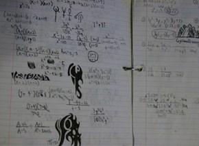 Every time I have math homework.