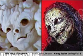 This piece of popcorn Totally Looks Like Corey Taylor during Vol. 3