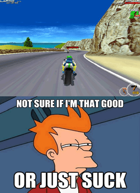 When racing with myself