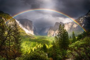 Yosemite's Rainbow by Mike Blank