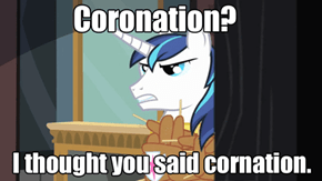 Shining Armor's reaction to Twilight's coronation.