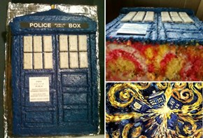 My pretty successful Tardis cake