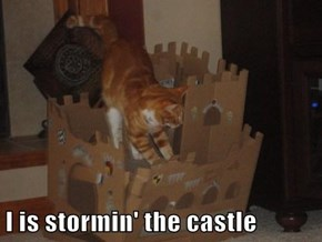 I is stormin' the castle