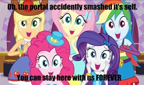 Overly attached equestria girls
