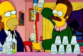 Flanders Is a Surprisingly Good Bartender...