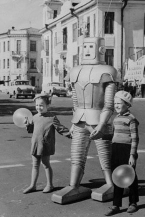 Robot With Kids