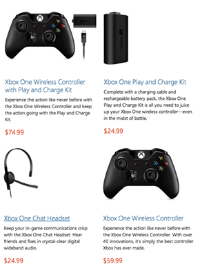 The Xbox One Controller and Accessories Now Have Prices