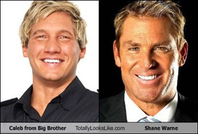 Caleb from Big Brother Totally Looks Like Shane Warne