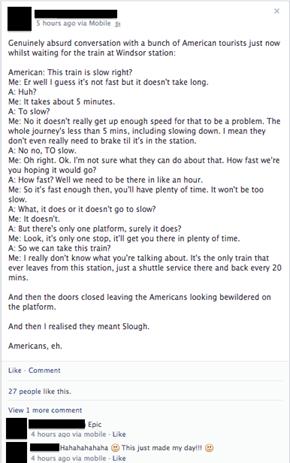 Americans, eh.