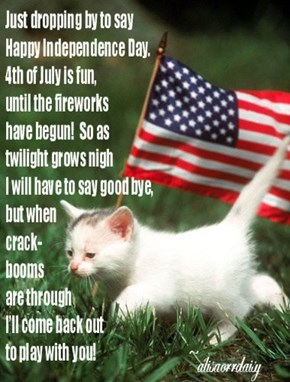 ~Kitteh sentiments for the Fourth~