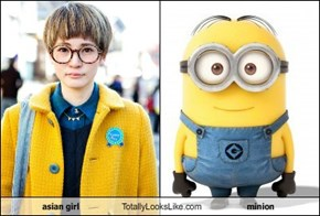asian girl Totally Looks Like minion