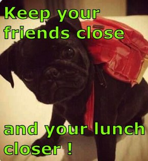 Keep your friends close  and your lunch closer !