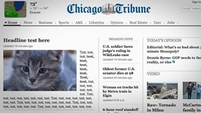 Really important front story, Chicago Tribune