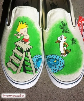 These are My Imagination Shoes