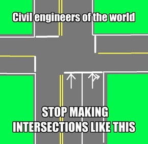 I can't merge lanes mid-intersection!