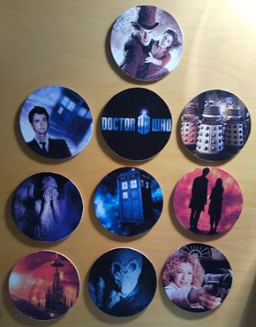 DIY Doctor Who coasters