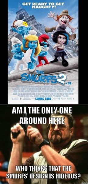 I really don't like these Smurfs