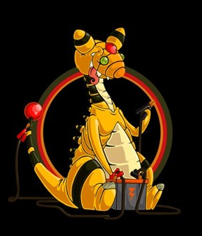 Ampharos Plays with a Car Battery