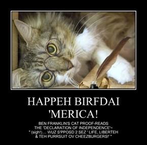 HAPPEH BIRFDAI  'MERICA!