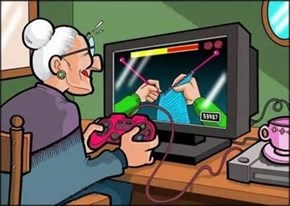 grandma plays