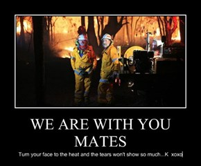 WE ARE WITH YOU MATES