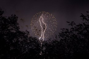 Perfectly Timed Photo of the Day: Lightning Steals the Thunder During Fireworks