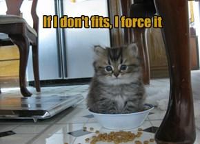 If I don't fits, I force it