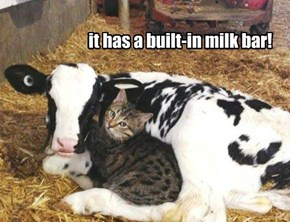 it has a built-in milk bar!