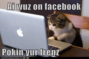 Ai wuz on facebook  Pokin yur frenz