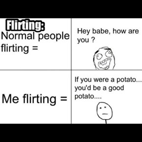 people flirting