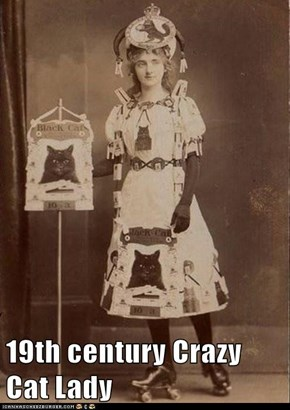 19th century Crazy Cat Lady