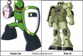 Sniper Joe Totally Looks Like Zaku II