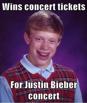 Wins concert tickets  For Justin Bieber concert