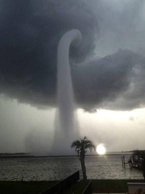 Tornados Create Crazy Water Spouts