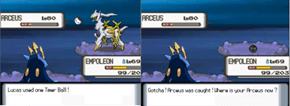 Arceus was caught