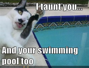 I taunt you...  And your swimming pool too