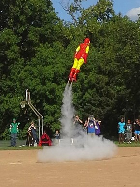 Real-life iron man launch