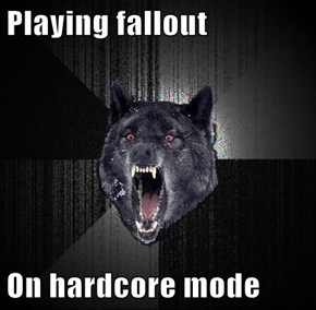 Playing fallout  On hardcore mode