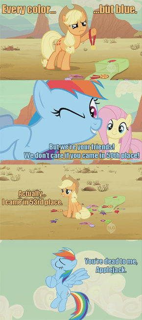 Rainbow Dash's friendship is conditional