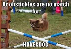Ur obstickles are no match for  HOVERDOG