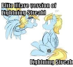 Blitz (Mare version of Lightning Streak)  Lightning Streak