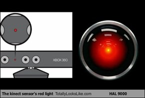 The kinect sensor's red light Totally Looks Like HAL 9000