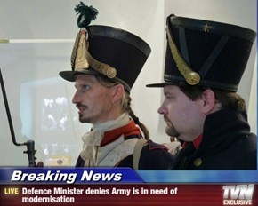 Breaking News - Defence Minister denies Army is in need of modernisation