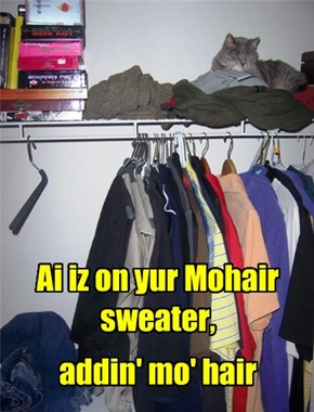 Ai iz on yur Mohair sweater,