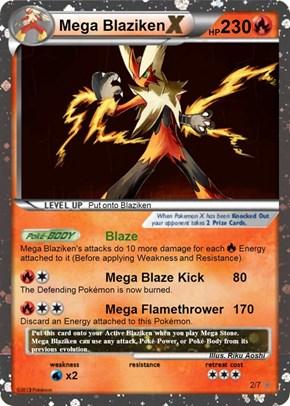 Mega Blaziken Pokémon card