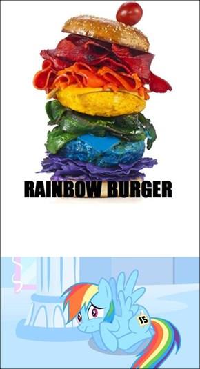 Rainbow Burger