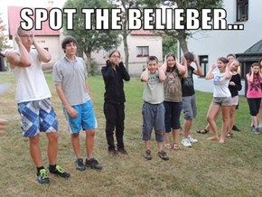 SPOT THE BELIEBER...