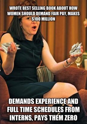 Scumbag Sheryl Sandberg