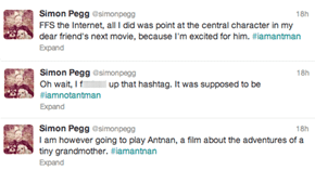 Simon Pegg Denies Being Ant-Man, Breaks Hearts Everywhere